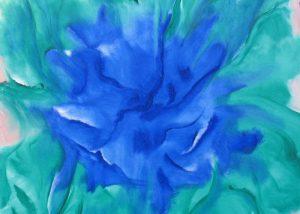 2009 1   Flower of power - Olieverf op doek   80x80